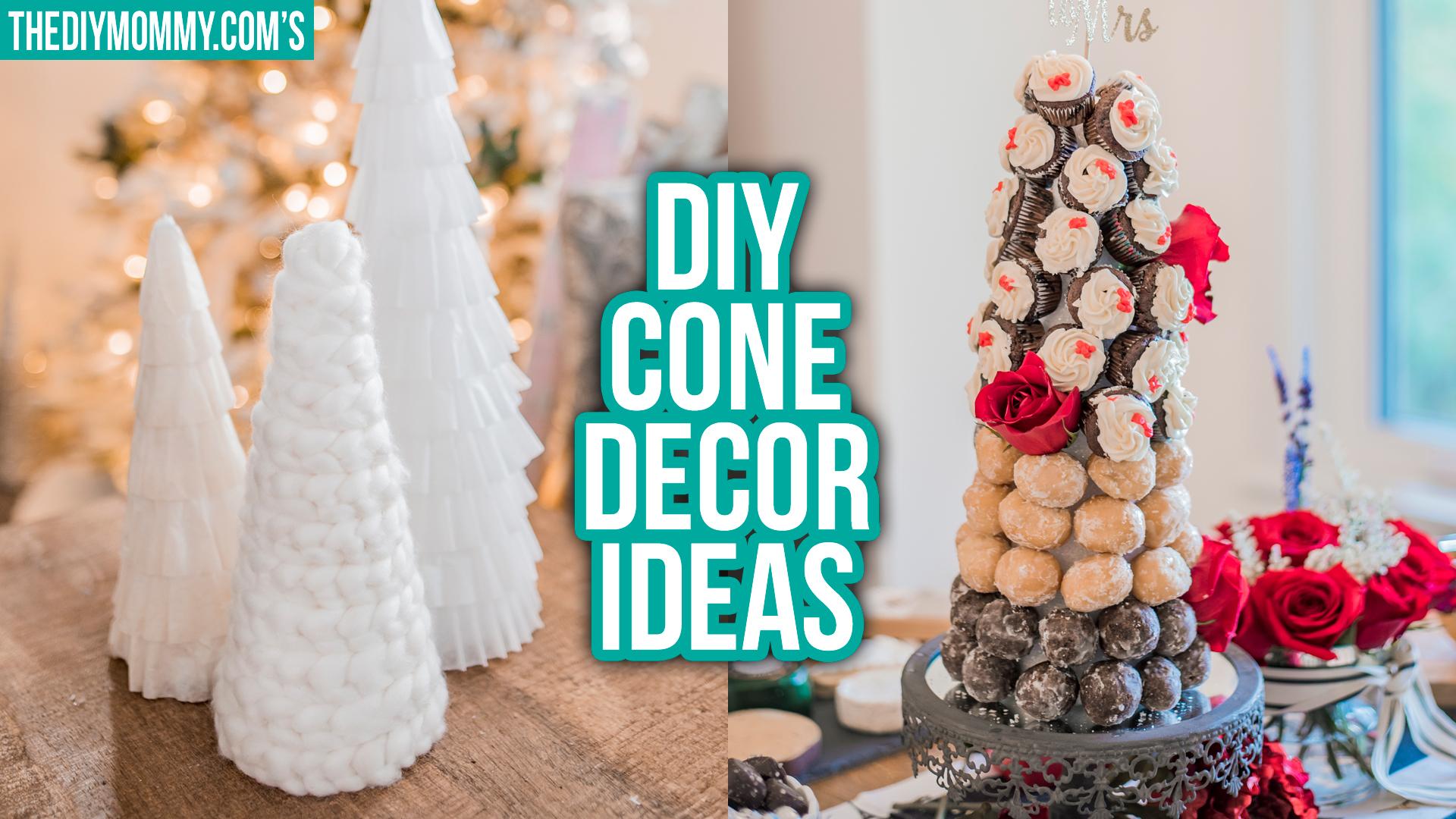 DIY Cone Decor Ideas for Christmas