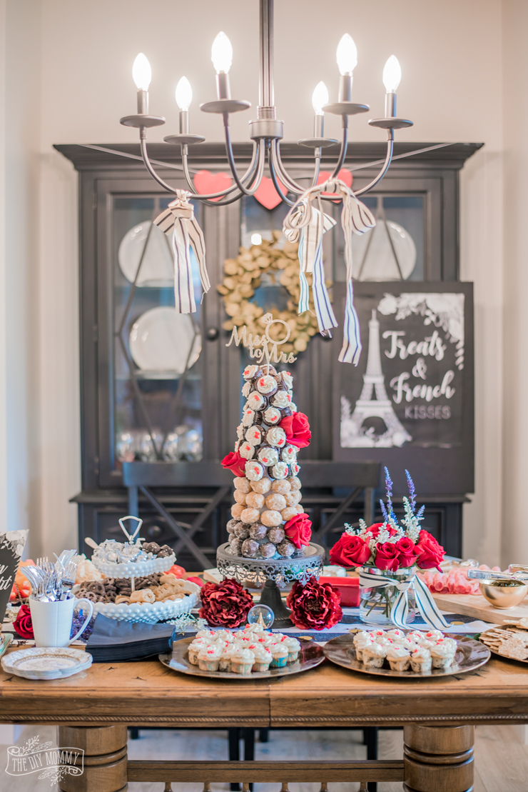 DIY Dessert Tree with Styrofoam Cone, TimBits and Cupcakes