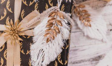 DIY Macrame Feather Christmas Ornament