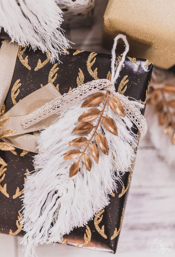 DIY Macrame Feather Christmas Ornament