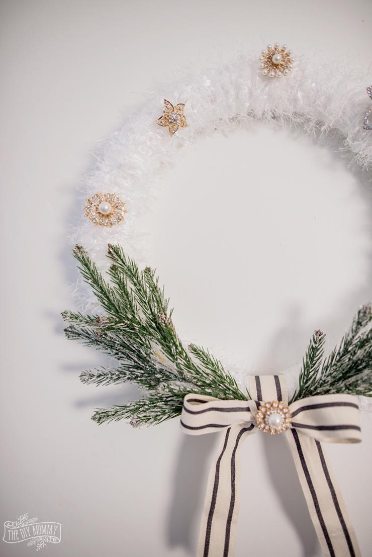Faux Fur Glam Christmas Wreath