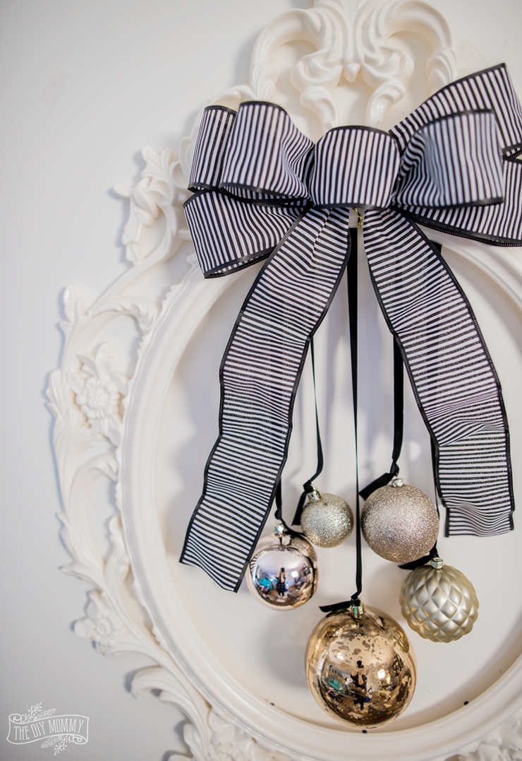 Glam Christmas Wreath from Ikea Picture Frame