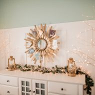 Glam Christmas Buffet And Card Display