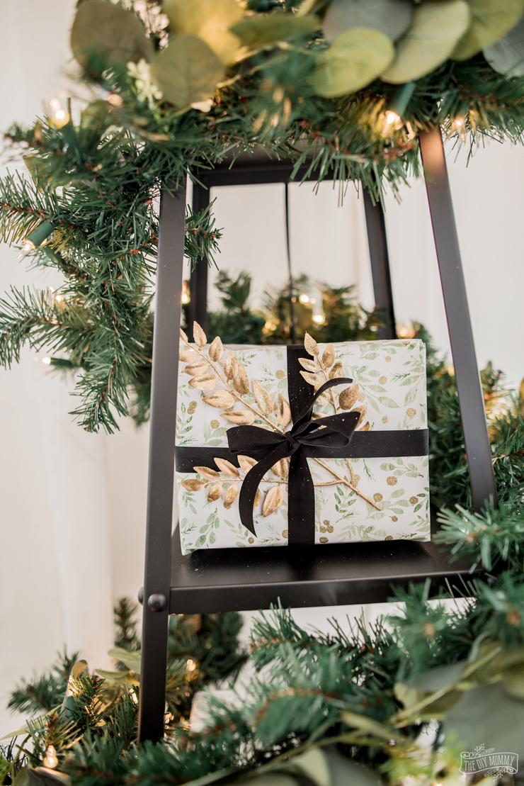 DIY Floor Lamp Christmas Tree