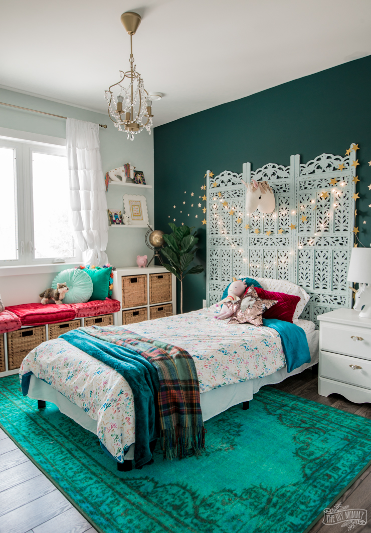 Rich and Magical, Boho inspired kids bedroom makeover on a budget