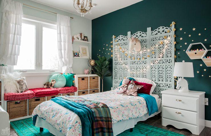 Rich & Magical Boho Kids Bedroom Makeover