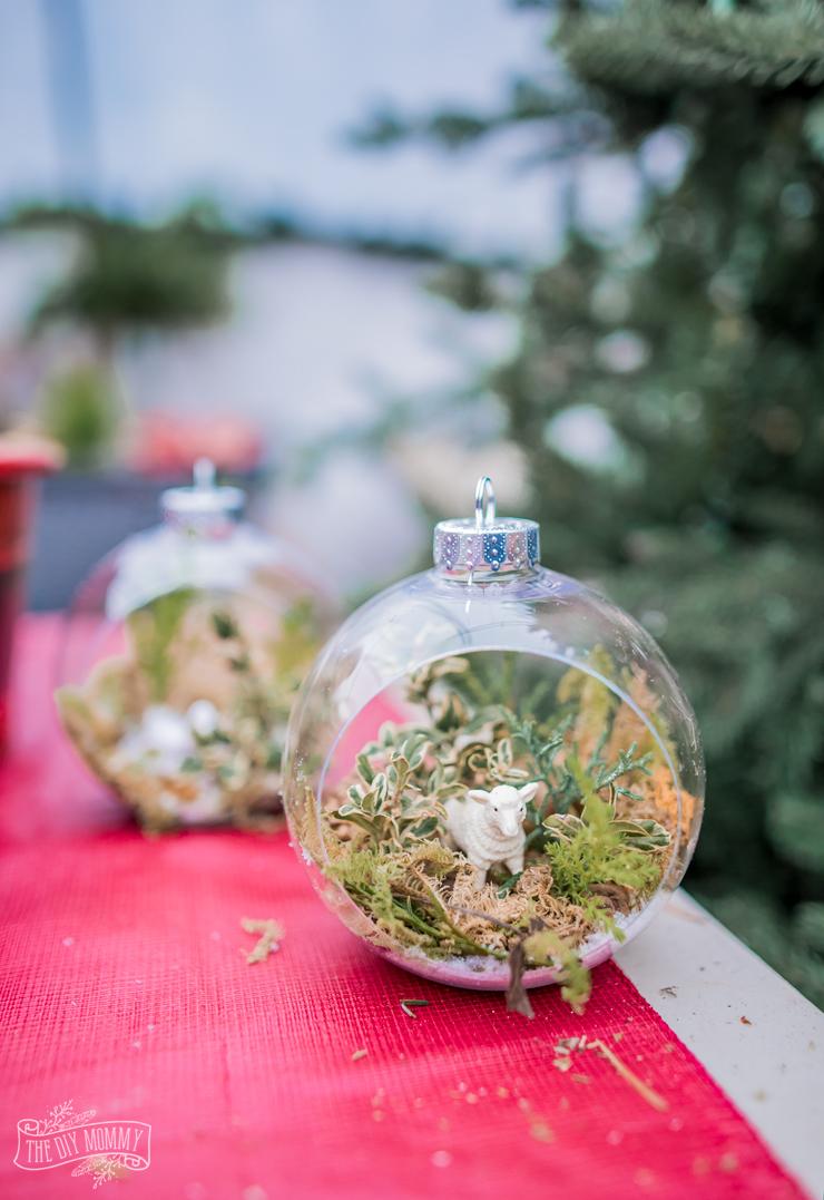 DIY Greenery Snow Globe Ornaments