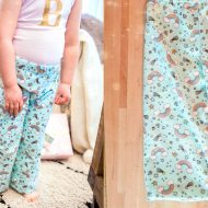 How to Sew Pajama Pants for Kids (with DIY Glitter Monogram Top)