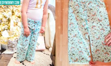 How to sew pajama pants for kids - free pattern!