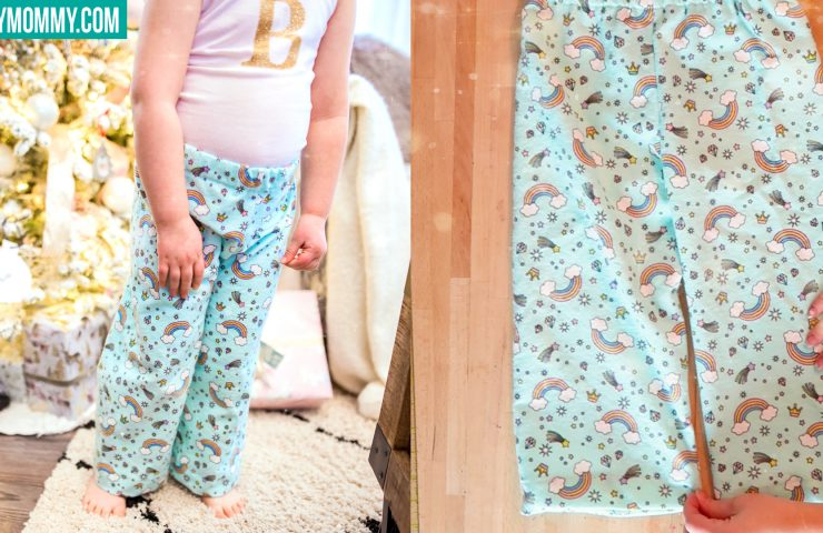 Wonderful How To Sew Pajama Pants For Kids (with DIY Glitter Monogram Top)
