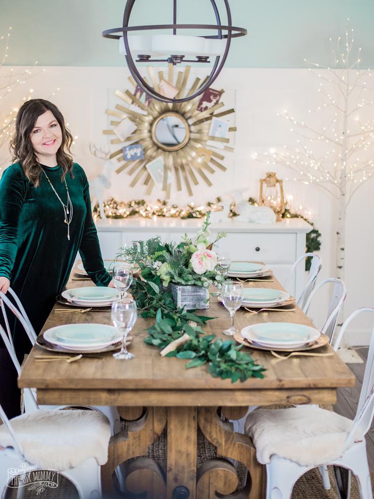 Rustic Glam Christmas Table Ideas