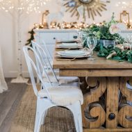 Two Neutral, Rustic Glam Christmas Table Ideas