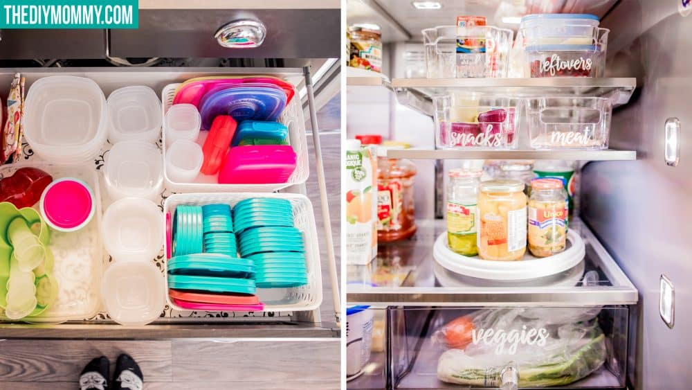 Dollar Store Kitchen Organizing Ideas