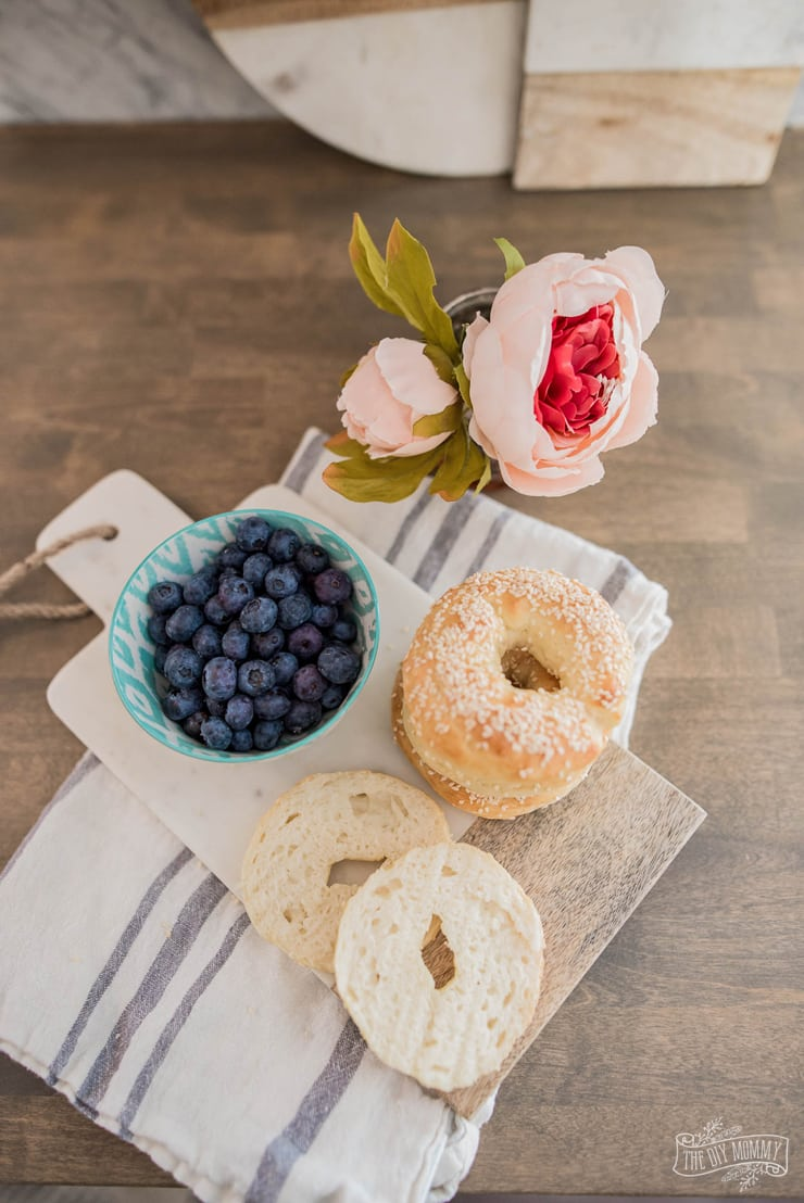 2 Ingredient Bagels - delicious, full of protein and Weight Watchers friendly