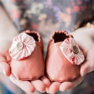 Sew Faux Leather Baby Slippers with the Cricut Maker