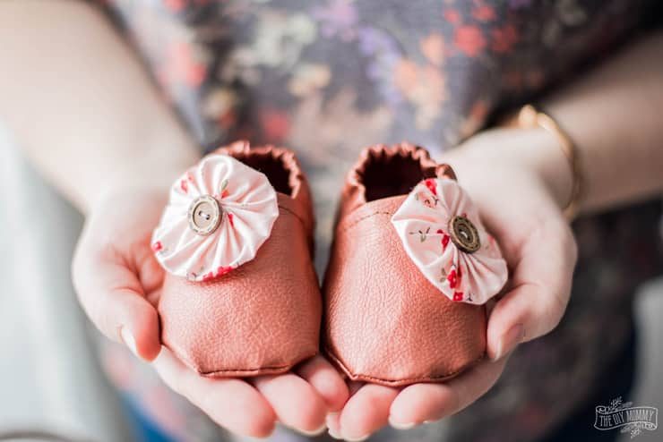 Sew Faux Leather Baby Slippers with the Cricut Maker | The DIY Mommy