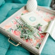 Make a DIY Spring Tray from a Shadow Box