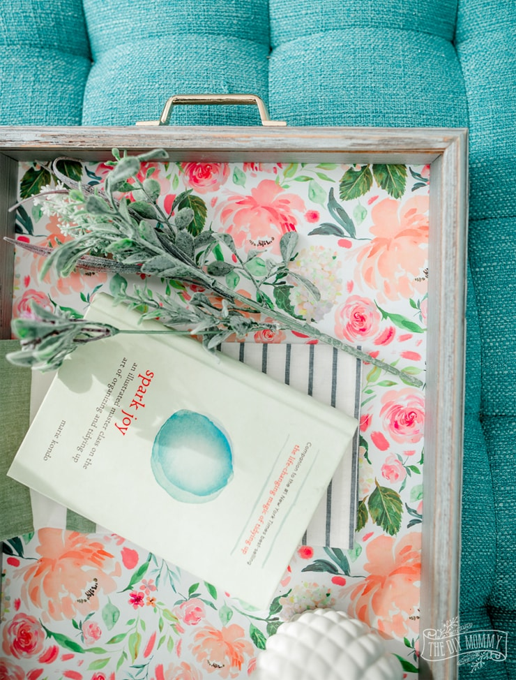 DIY Spring Tray from a Shadow Box