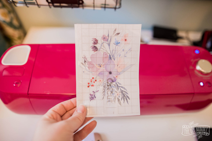 DIY Watercolor Mixer Decal with Cricut