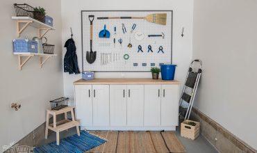 DIY Garage Storage | Build a Work Bench & Framed Pegboard Wall