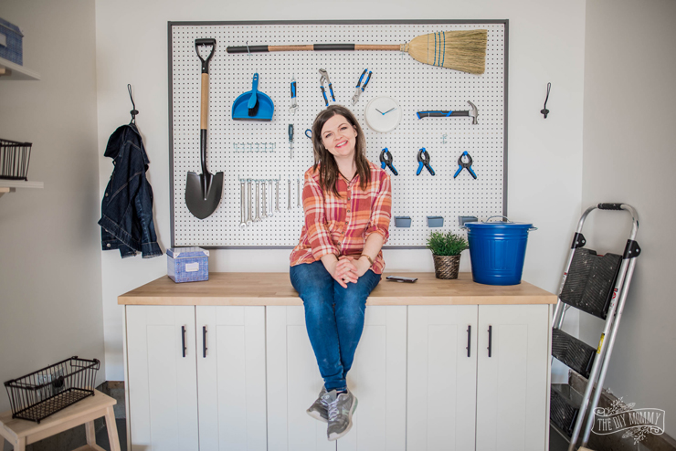 DIY Garage Storage | Build a Work Bench & Framed Pegboard Wall