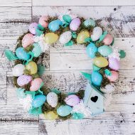 Make a Dollar Store Easter Egg Wreath (So Cute & Easy!)