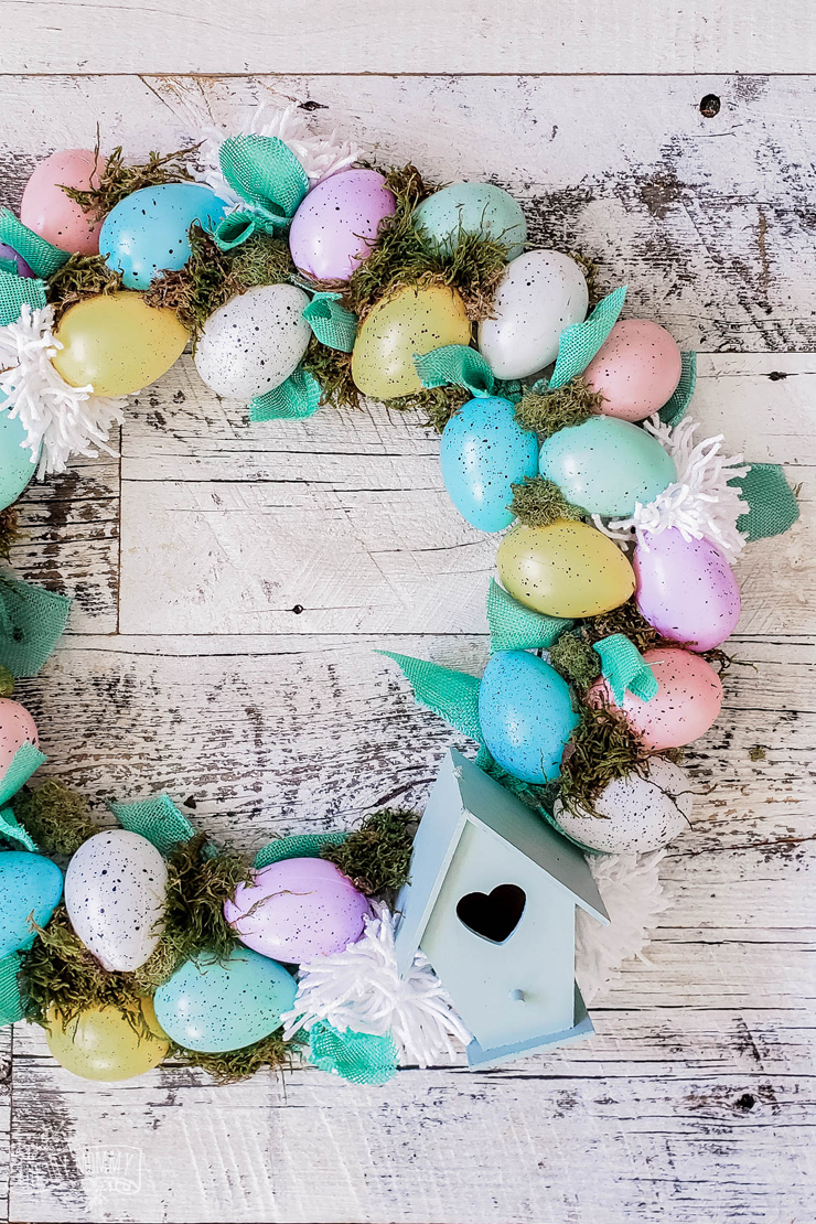Make A Dollar Store Easter Egg Wreath So Cute Easy The Diy Mommy