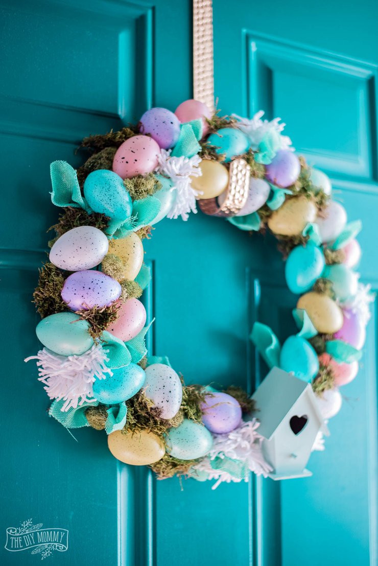 Spring and Easter Dollar Store Egg Wreath