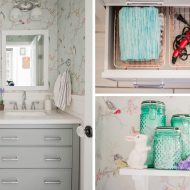Small Bathroom Organization & Decor Ideas (from the Dollar & Thrift Store!)