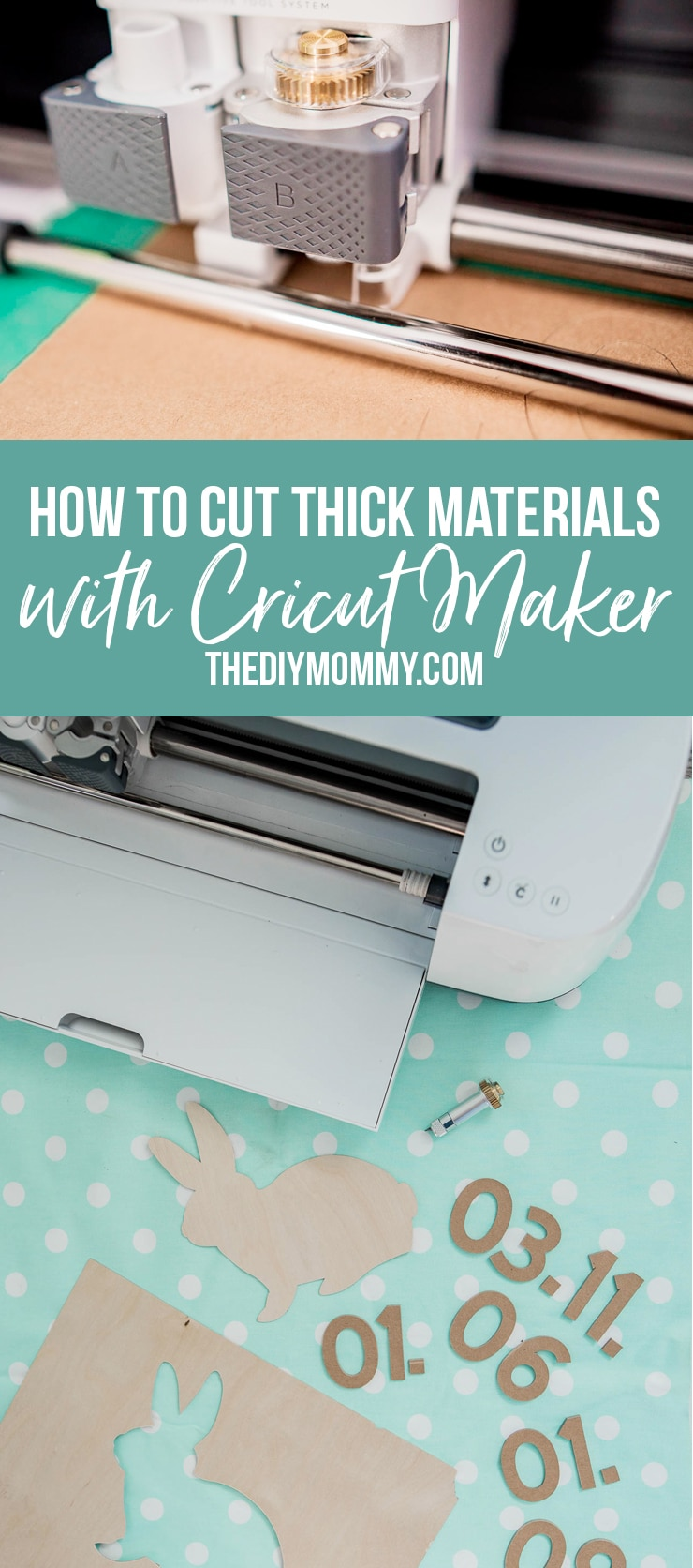 Learn how to cut thick material with the Cricut Maker knife blade