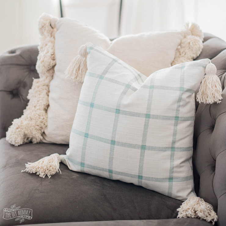 How to sew a DIY Tassel Pillow Cover