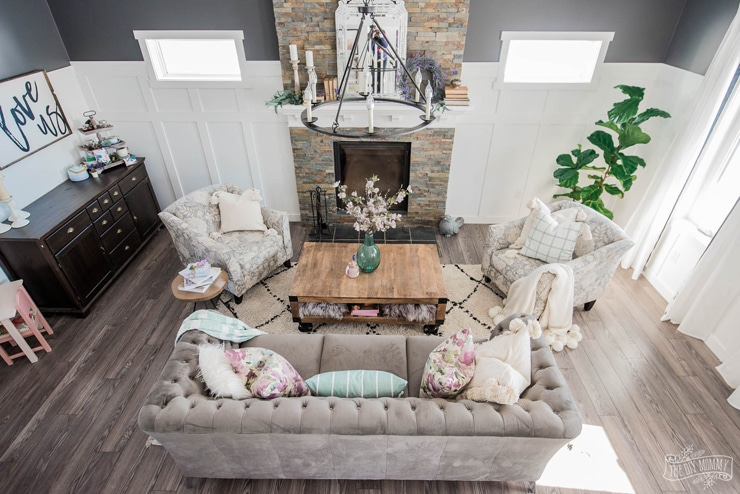 Modern Romantic French Country Living Room