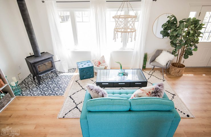 What should the space between furniture be
