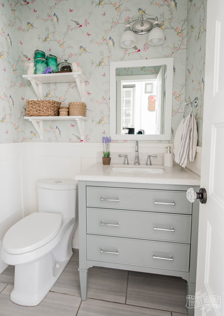 Small Bathroom Organization Decor Ideas From The Dollar Thrift Store The Diy Mommy