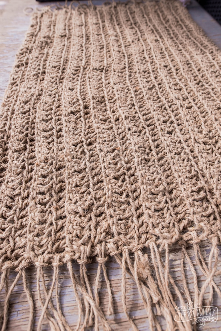 DIY Jute Rug from Dollar Store Twine