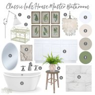 Mood Board: Classic Cottage Master Bathroom – One Room Challenge Spring 2019
