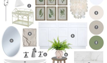 Classic Cottage Lake House Master Bathroom Mood Board