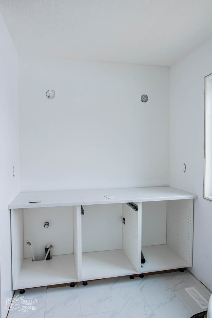 Hacking Ikea Kitchen Cabinets for a Bathroom Vanity | 2019 ...