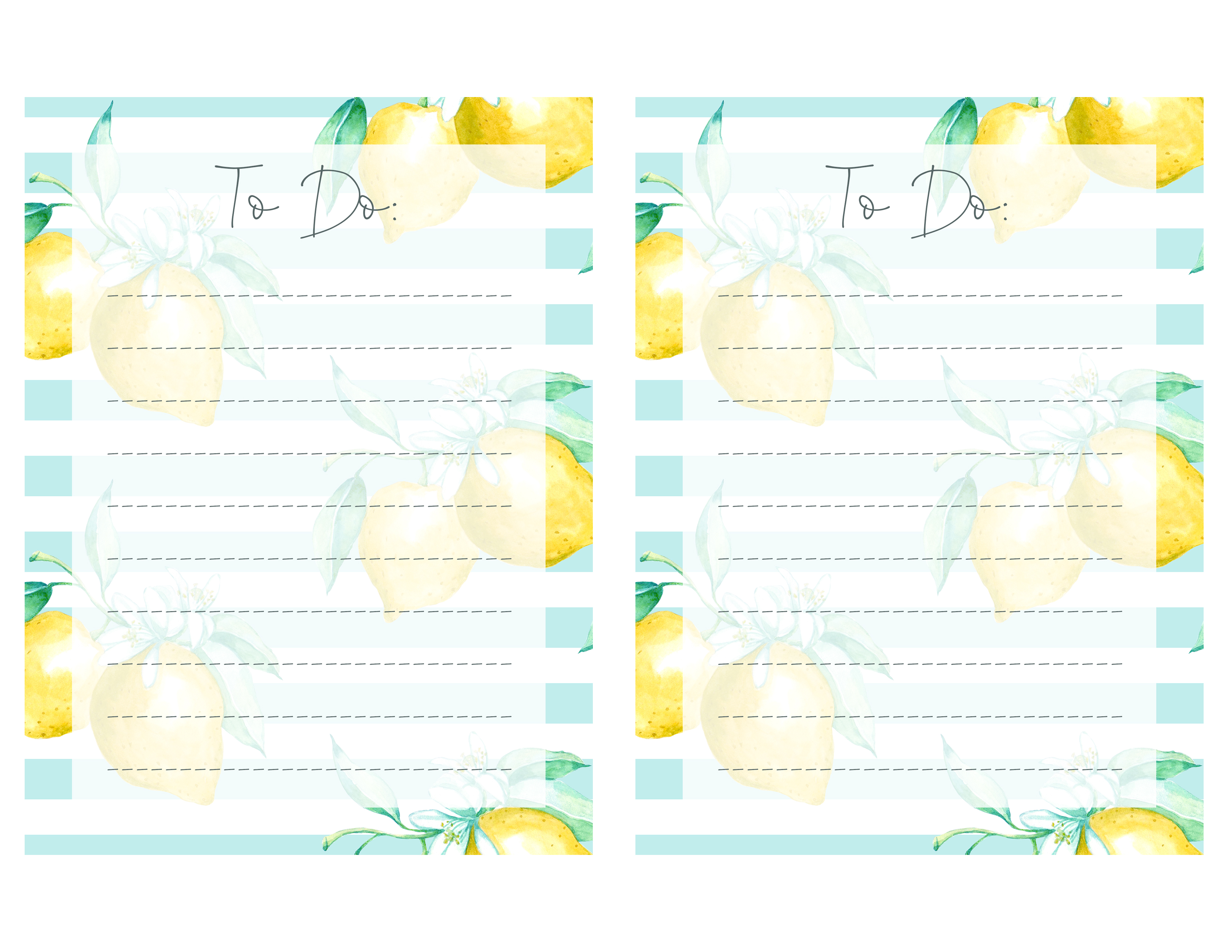 image about Printable referred to as Absolutely free Lemon Themed Printable In direction of-Do Grocery Record