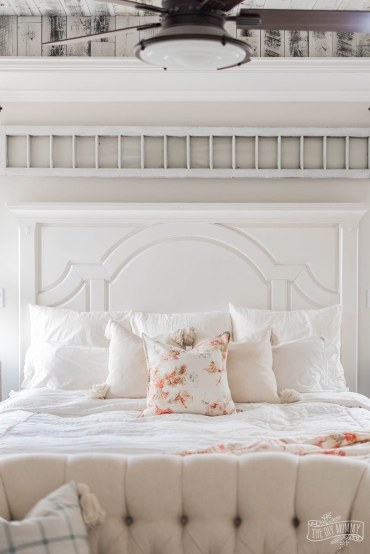 Soft & Vintage Inspired Spring Bedroom | The DIY Mommy