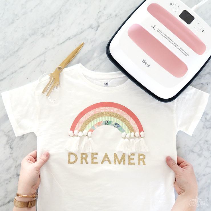 DIY Rainbow Dreamer TShirt with Cricut