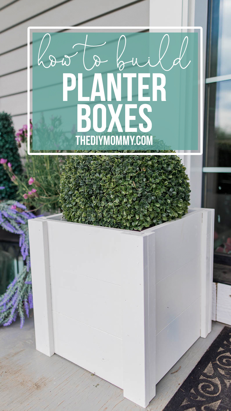 A super easy way to build DIY farmhouse inspired wooden planter boxes