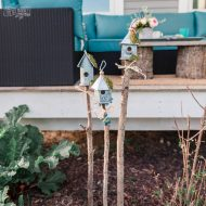 Rustic Birdhouse Garden DIY Decor (from the Dollar Store!)