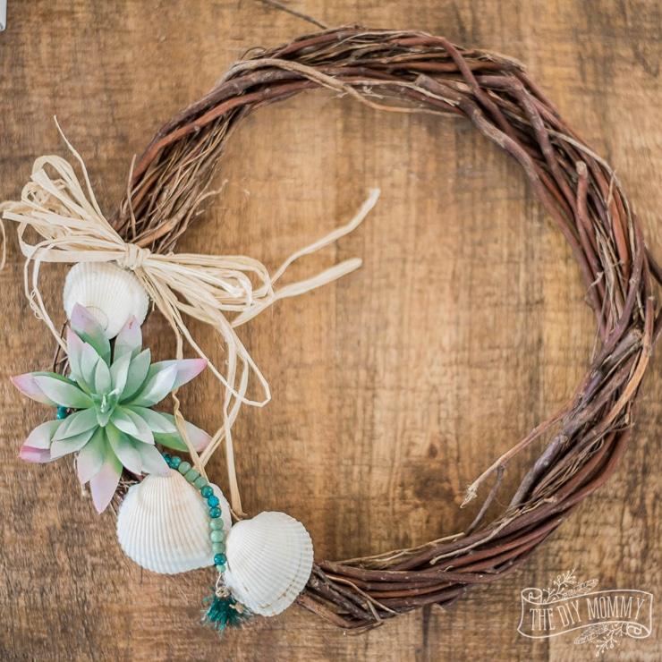 DIY Dollar Tree Nautical Wreath for Summer