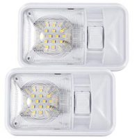 Kohree 12V Led RV Ceiling Dome Light RV Interior Lighting for Trailer Camper with Switch, Single Dome 300LM Each (Pack of 2)