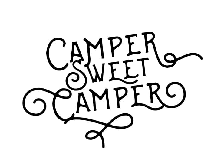 Adorable Camper Sweet Camper FREE printable art!