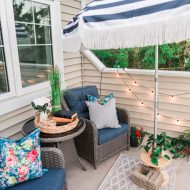 A Coastal Cottage Balcony Makeover at Mom's Lake House