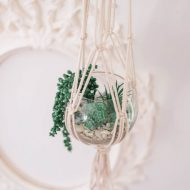 DIY Macrame Plant Hanger with a Thrifted Vase