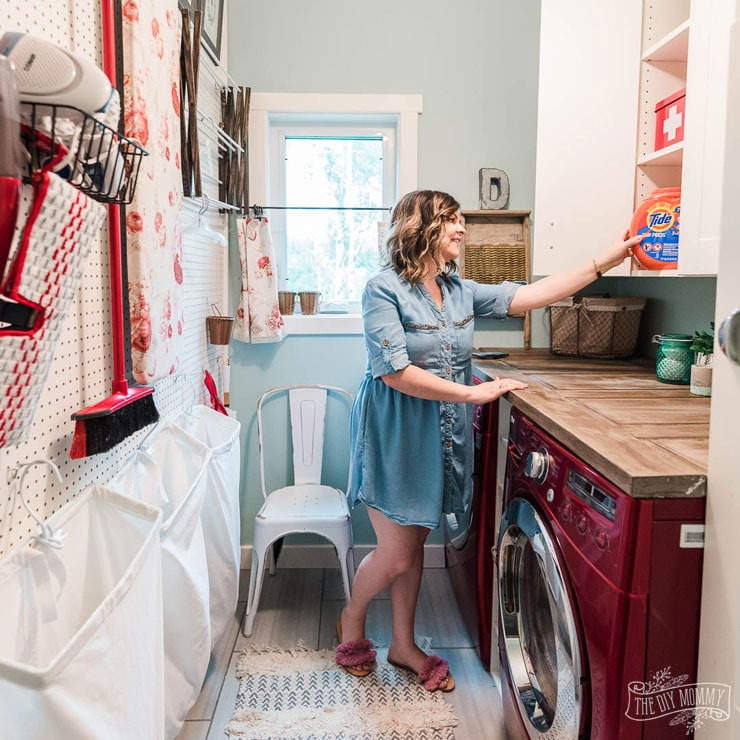 Easy laundry room organization and safety ideas