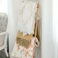 DIY Blanket Ladder from Copper Pipe & Dowels